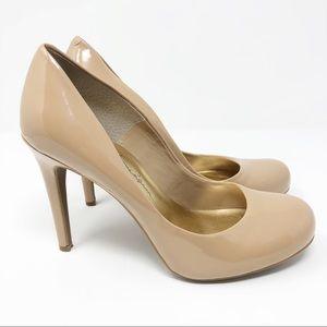 Jessica Simpson Shoes - Jessica Simpson | Nude Patent Round Toe Calie Pump